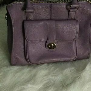 Ora Delphine lavender satchel